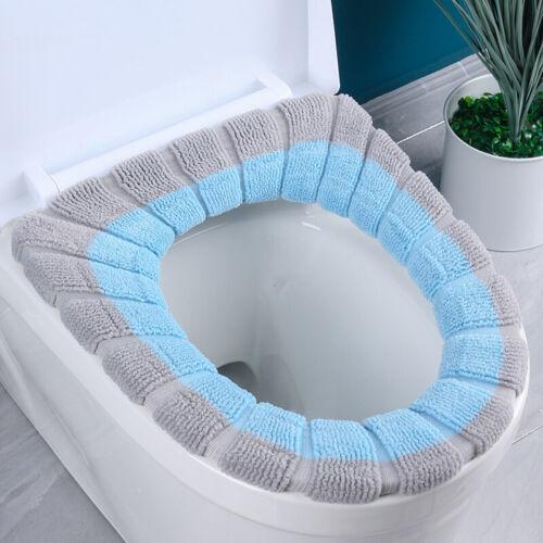 Toilet Seat /& Cover Bathroom Mat Washable Warm Winter Closestool Mat Toilet Mat