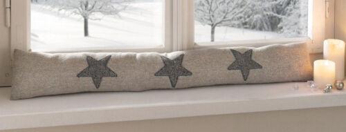 Türstopper Zugluftstopper Tweed Stars Türhalter Fensterabdichtung