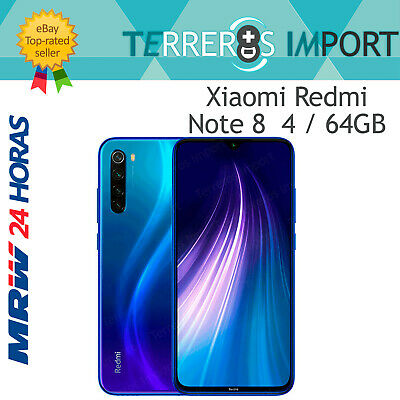 "Xiaomi Redmi Note 8 Azul 4GB 64GB Versión Global Europea 6.3"" Quad Camera 48MP"