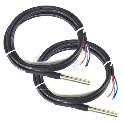 2x DS18B20 Waterproof Thermal Probe Temp Sensor Thermometer USA