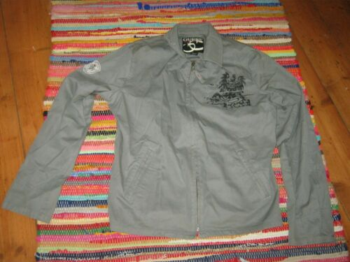 Sleeve nascosta badge ~ Khaki ~ ~ M Giacca militare Zip Guess ~ Up ~ Tasca Grey ~ PvAxaq