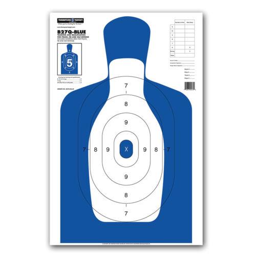 """Thompson Target B27Q-Blue Silhouette Qualification Shooting Targets 25/""""x38/"""""""