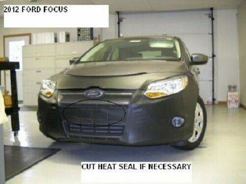 Lebra Front End Mask Cover Bra Fits FORD FOCUS 2012 2013 2014 W//O Park Assist.