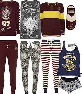 ladies harry potter gryffindor pyjamas pj top t shirt leggings bottoms primark ebay. Black Bedroom Furniture Sets. Home Design Ideas