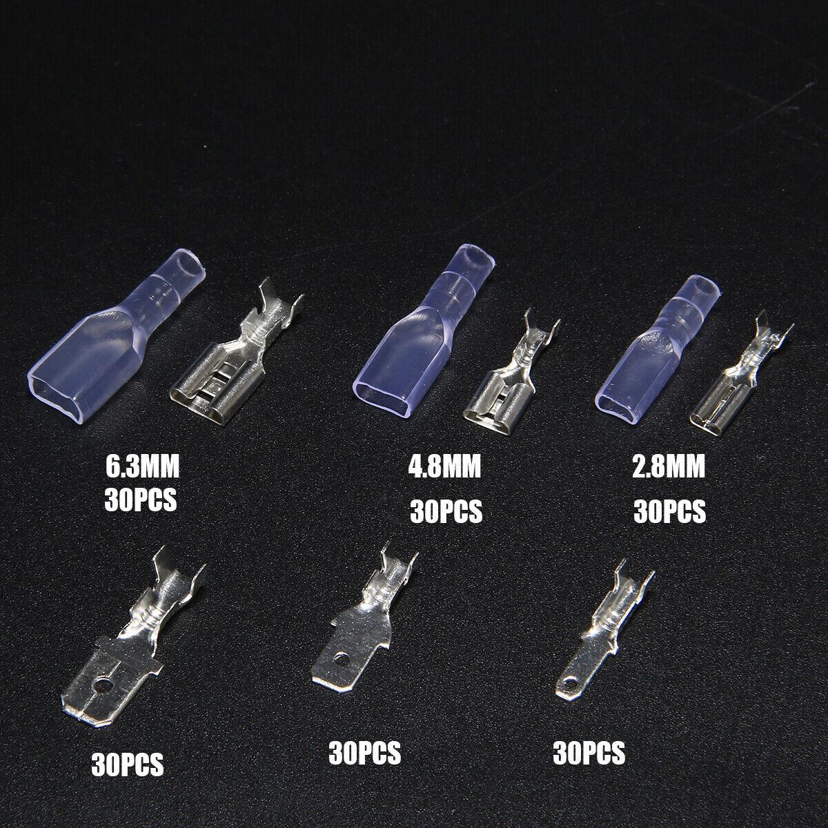 270pc Assortment Terminal Kit Electrical Wire Crimp Connectors Male Female Spade 7