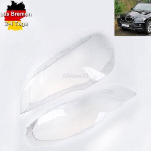 Scheinwerfer-Objektive-Lens-Cover-fuer-BMW-X5-E70-2007-2008-2009-2010-2011-2012