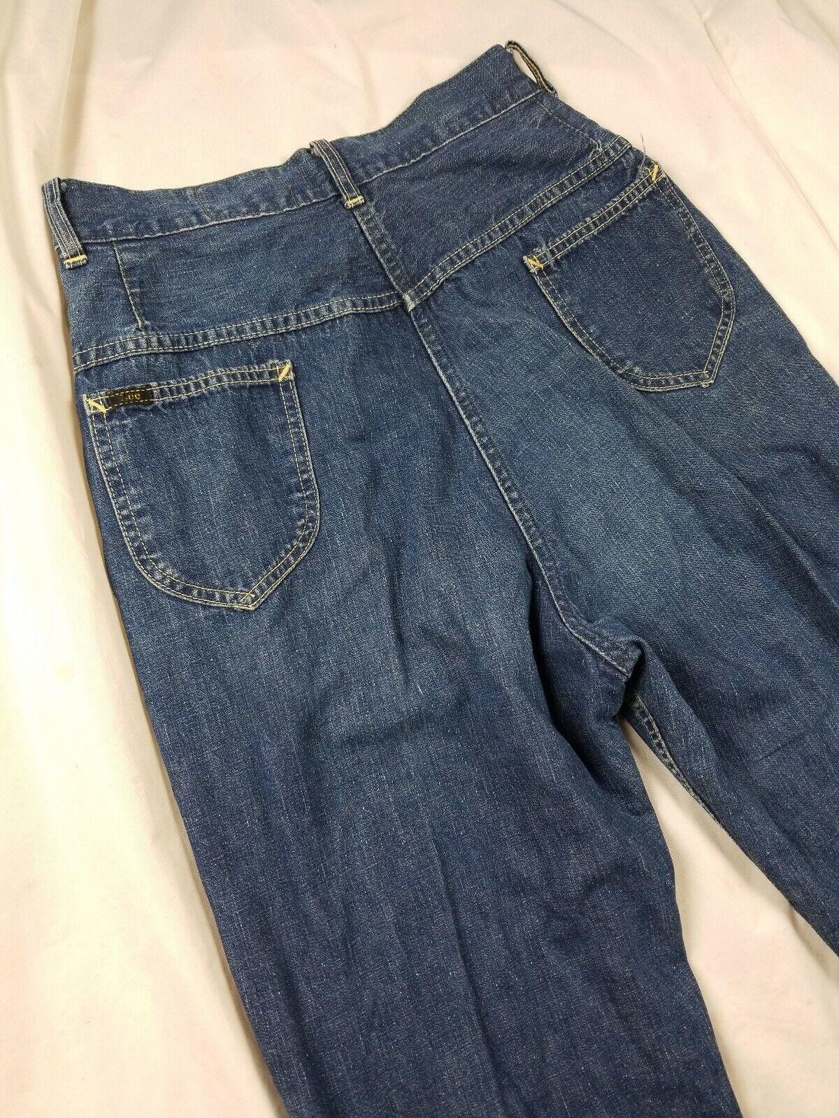 Vintage 1940s Lee High Waisted Side Zip Jeans Usa… - image 6