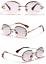 thumbnail 9 - Mens-Womens-Retro-Light-Weight-Vintage-Rimless-Oval-Diamond-Cut-Sunglasses