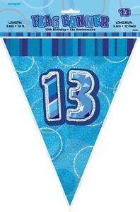 GLITZ-BLUE-FLAG-BANNER-13TH-BIRTHDAY-3-6M-12-039-BIRTHDAY-PARTY-SUPPLIES