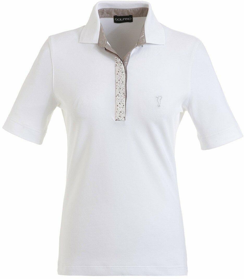 NWT Golfino Ladies Sun Protection Polo 6231622 100 White Sz 6 NEW