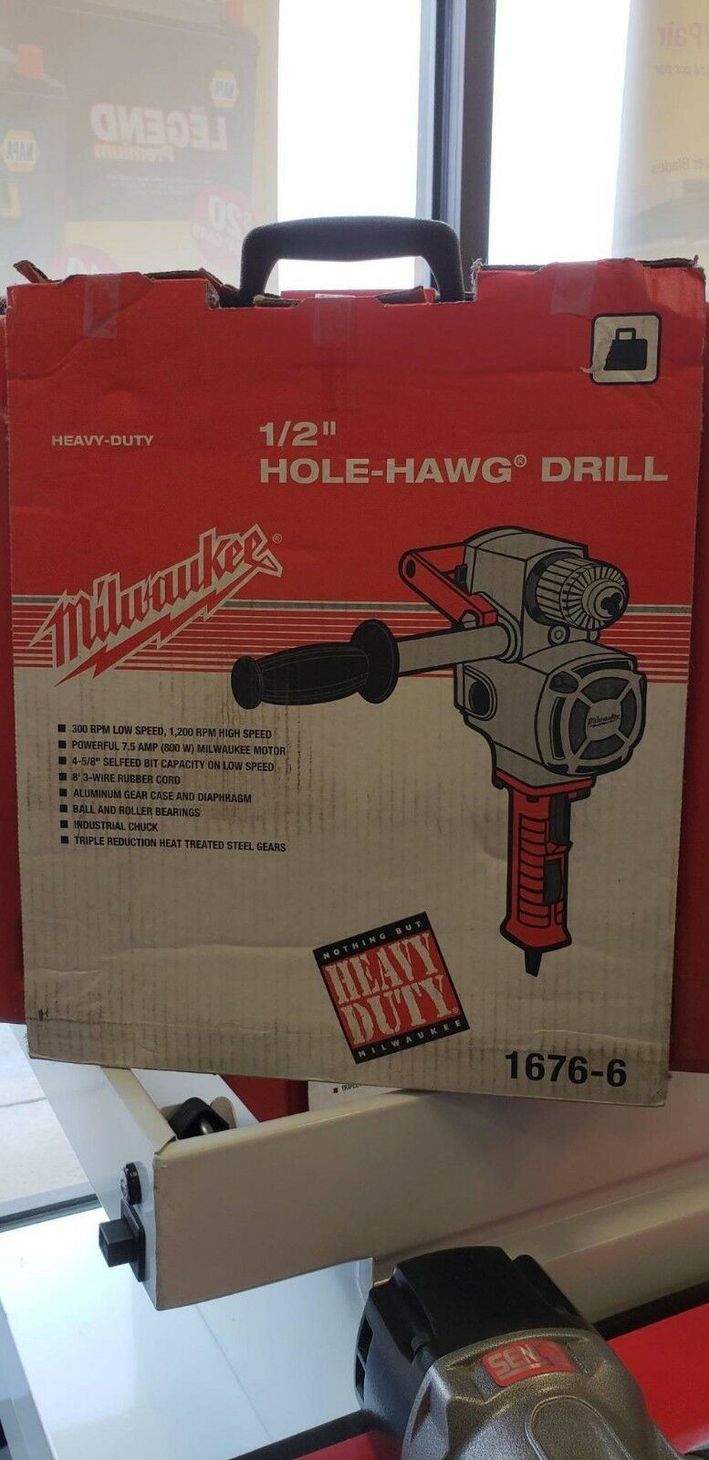Milwaukee 1676-6 1 2  Hole-Hawg Drill 300 1200 RPM Kit