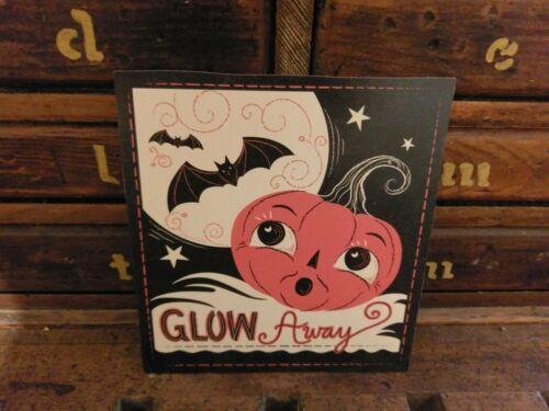 "Johanna Parker /""Glow Away/"" Jack O Lantern Retro Halloween Wood Cutout"