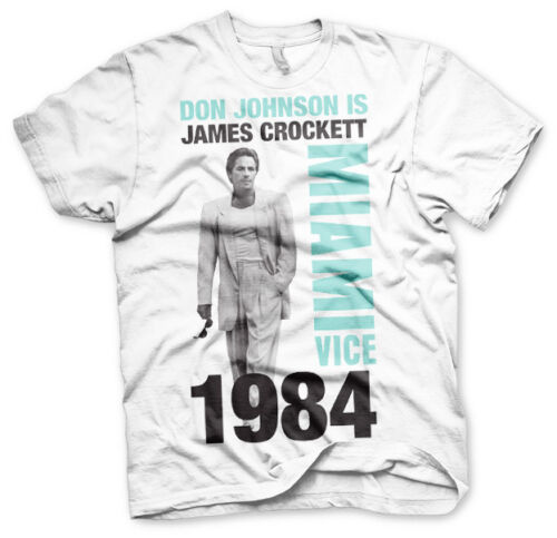 Officially Licensed Miami Vice Don Johnson Is Crockett 3XL,4XL,5XL Men/'s T-Shirt