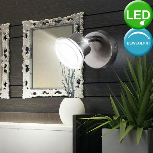 LED Wand Lampe Chrom Spot Wohn Zimmer Lese Leuchte Flur Strahler beweglich WOFI