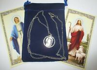 Madonna (mary) Cut-out Saint Medal With 24 Inch Necklace