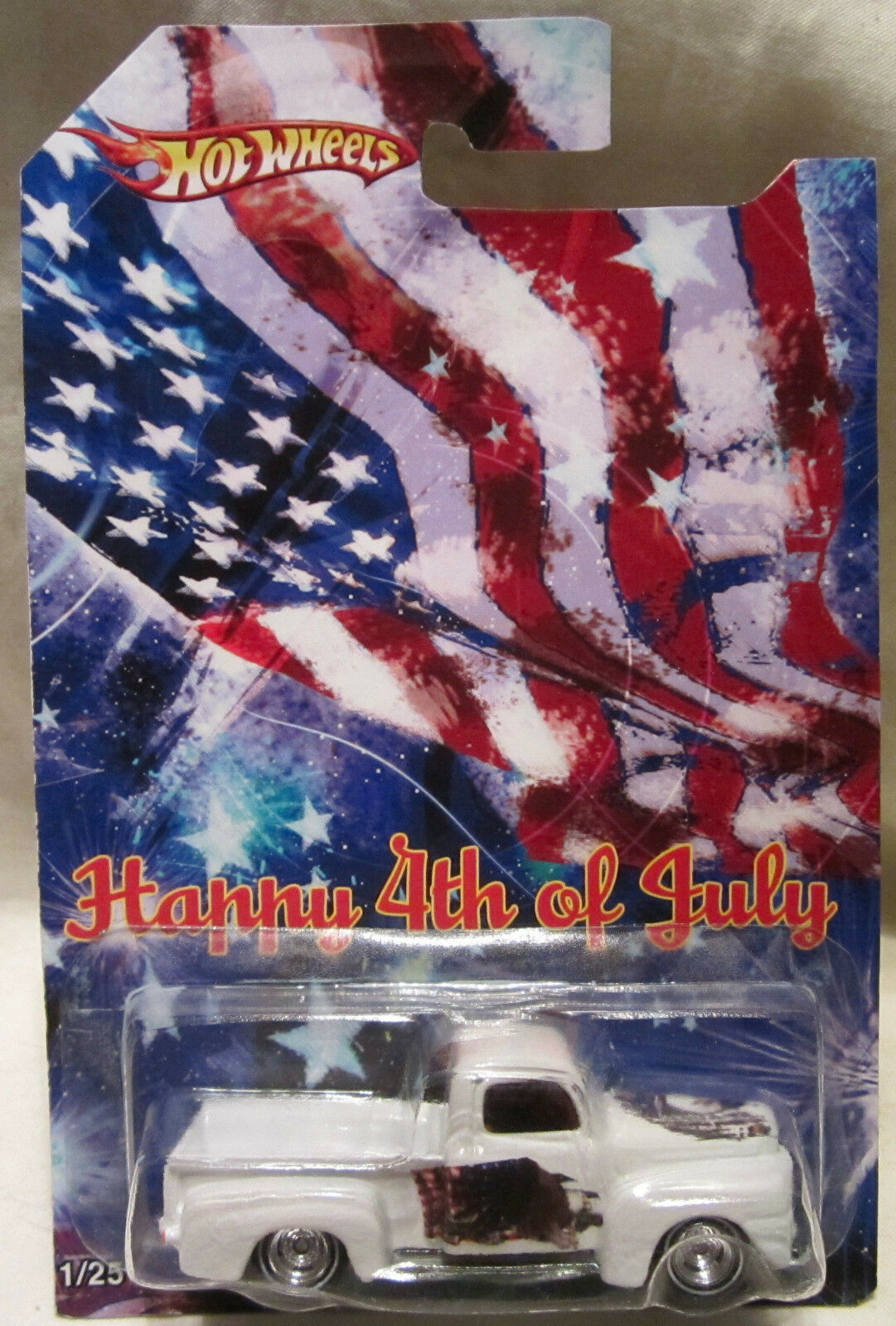 Hot Wheels CUSTOM 1949 FORD F-1  Happy 4th Of July  Real Riders 1 25 Made