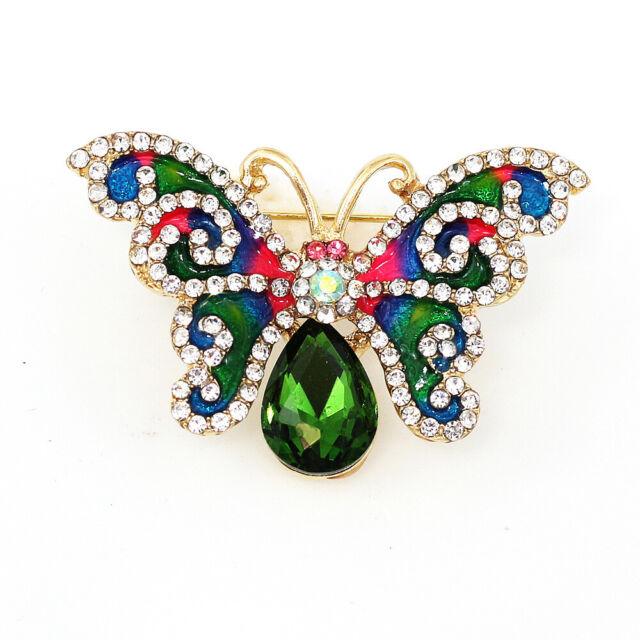 Pin By Crystal Johnson On Baldwin Hills Dam Break: Betsey Johnson Green Enamel Crystal Cute Butterfly Charm