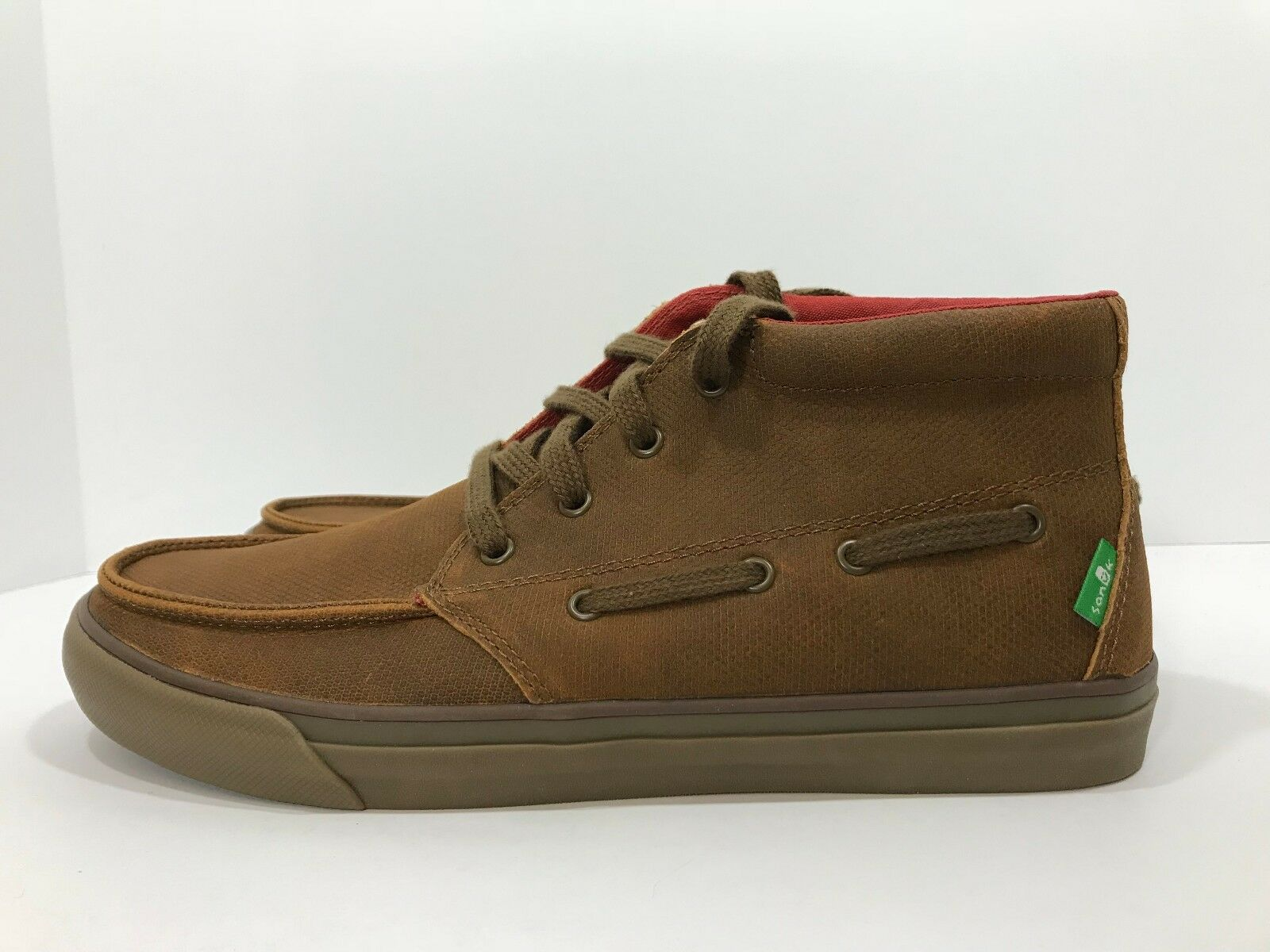 New Sanuk Sea Mid Deluxe Men's Sizes 8, 9 Brown Chukka Boots shoes