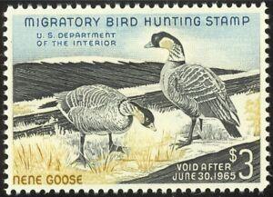 RW31-3-00-1964-Hawaiian-Nene-Geese-Lovely-Mint-NH-Single