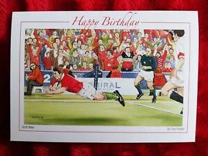 Rugby Union Wales vs England - Birthday Card - Tony Paultyn