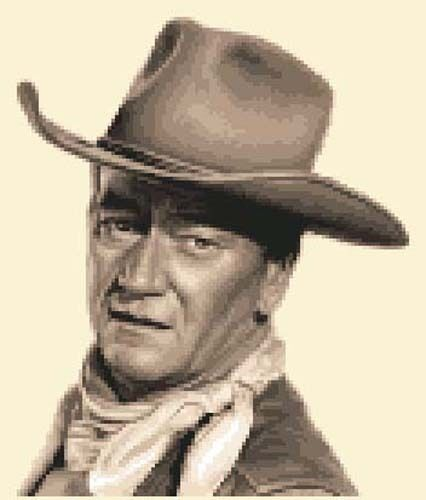 JOHN WAYNE complete counted cross stitch sewing kit