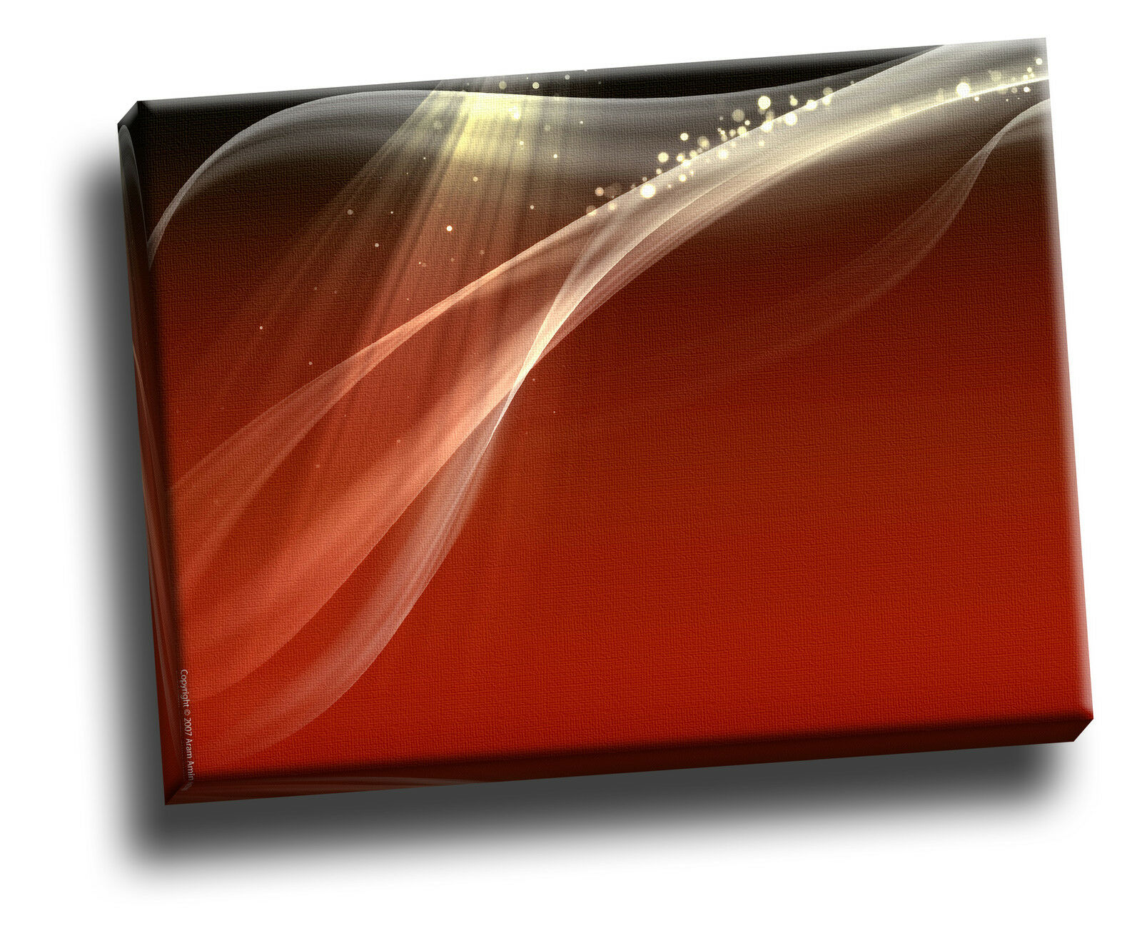 DARK rosso Swirl Giclee su tela astratto Coloreeee Foto Wall Art
