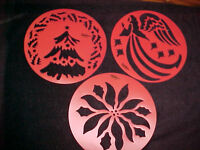 Christmas Stencils Wilton Cake Or Decorating 3 Templates Tree Poinsettia Angel