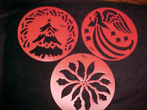 Christmas stencils wilton cake or decorating 3 templates for Angel tree decoration template