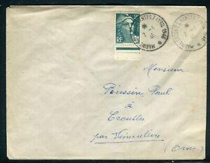 """FidèLe Oblitération """" Marine Colonies Nantes 7 Avril 1946 """" Sur Enveloppe"""