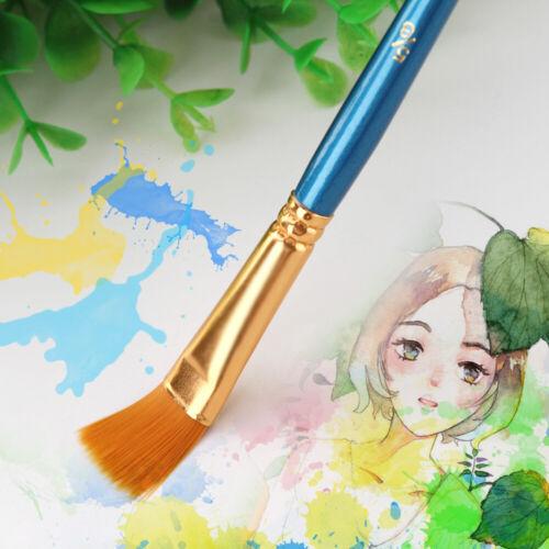 50 PCS Nylon Hair Paint Brushes Set Artist Paintbrush Lot Multiple Mediums M6Q9