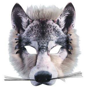 Site Officiel Adultes Enfants Réaliste Fourrure Wolf Pack Animal Jungle Loup-garou Livre Semaine Masque-afficher Le Titre D'origine Haut Niveau De Qualité Et D'HygièNe