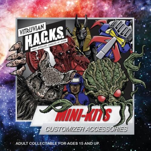 "Vitruvian HACKS 4/"" Boss Fight Studios OLD ONE Mini Kit  Red"