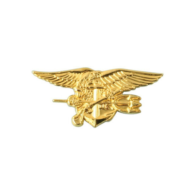 US Navy Special Warfare Seal Trident Gold Colored Military Lapel Pin