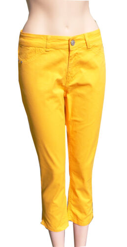 Colac Jenny Jegging Estate Pantaloni Arancione leggero jeans slim 44 + 46 7/8 forma abbreviata