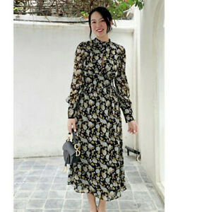 ZARA FW2020 Floral Printed Plumetis Dress Size L Sold Out BNWT