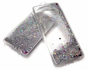 wholesale dealer 1f1ec caa60 Details about For Samsung Galaxy S8 PLUS Silver Glitter Stars Liquid  Quicksand Water Skin Case