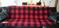 Vintage Marlboro Plaid Check Wool Blanket. 59 X 73. Nwt. Heavy & Nice.