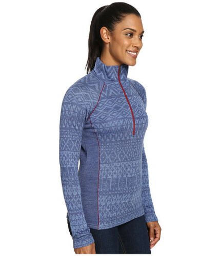 New Kuhl Adriana 1//2 Zip Merino Wool Sweater; Color Blue Depth MSRP $119