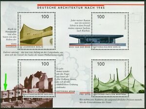 Bund-Block-Nr-37-I-postfrisch-PF-Plattenfehler-Deutsche-Architektur-1945-BRD
