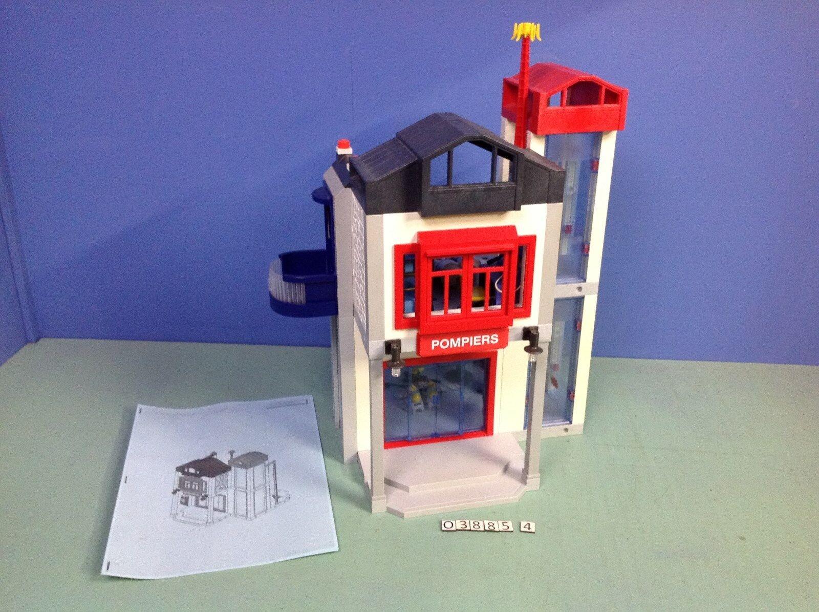 O3885.4  playmobil Caserne de pompiers centre d'entraînement ref 3885