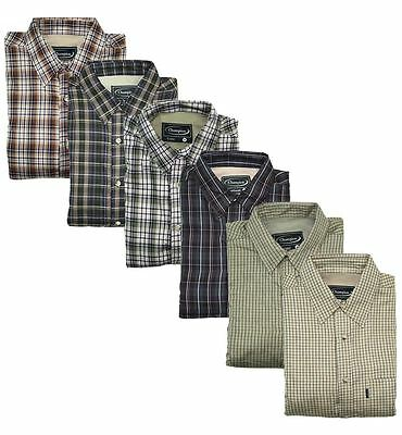 Champion Fleece Lined Country Check Warm Shirts Farming Fishing £16.99 Free Post