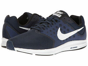Nike Downshifter 7 Men's Size Midnight Navy White Running Shoes 852459400