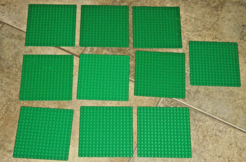 Lego Set of 10 16x16 dot thin building baseplate dark Green Friends 6098 Grass