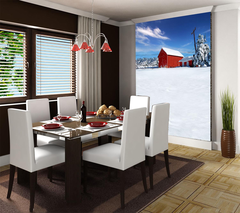 3D Sky House Snow 829 Wallpaper Mural Paper Wall Print Wallpaper Murals UK Lemon