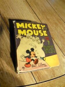 1940-Mickey-Mouse-and-the-7-Ghosts-BLB-Big-Little-Book-1475-VG-F