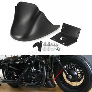Spoiler-avant-noir-mat-menton-carenage-pour-Harley-Davidson-Sportster-XL883-1200