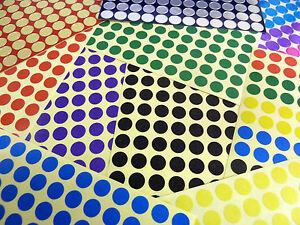 De-color-8mm-Pegatinas-Circulares-Etiquetas-Adhesivas-Varios-Colores-Economica