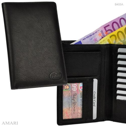 AMARI große Brieftasche 2 Scheinfächer 15 Kartenfächer Nappaleder Reisemappe
