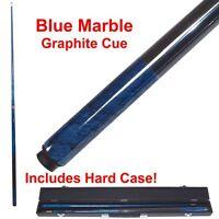 Trademark Blue Marble Billiard Graphite Pool Cue Stick Free Shipping New