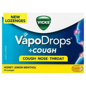 Vicks VapoDrops Honey Lemon & Menthol 16 pack